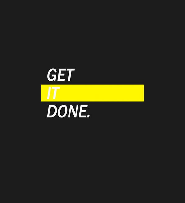 Get It Done design black