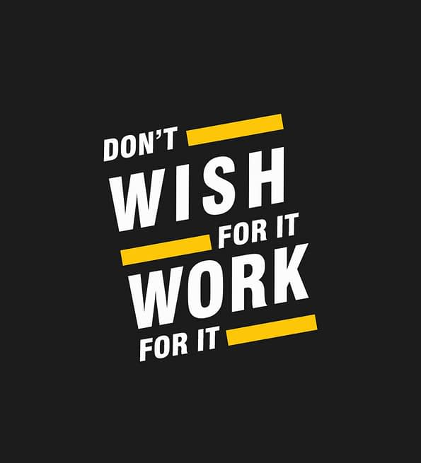 Dont wish for it design black