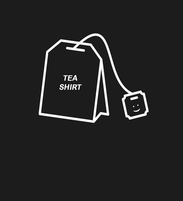 Tea Shirt design black