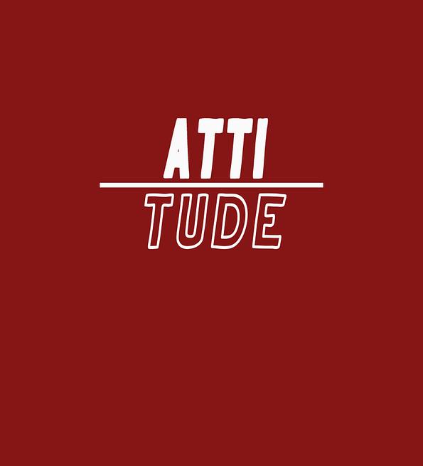 Attitude design maroon
